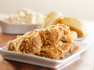Wall Mural - fried chicken meal