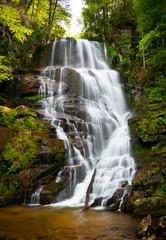 Blue Ridge Mountains Soothing Waterfall North Carolina NC