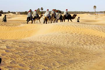 Poster de jardin Tunisie sahara desert, douz, tunisia