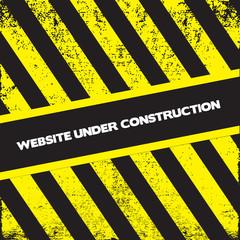 under construction grunge page