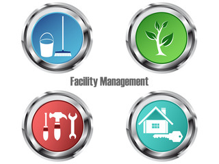 Facility Management - Icon Set -Service rund um Immobilien
