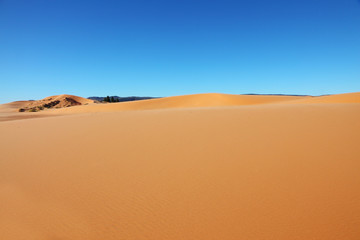 Yellow sand and blue sky