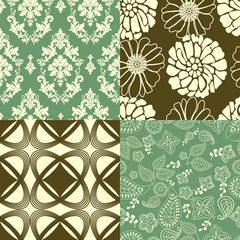 Set of tiling wallpaper patterns