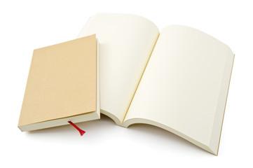 開いた白紙の本