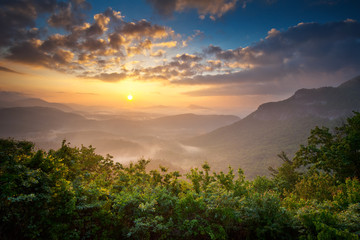 Sunrise Blue Ridge Mountains Scenic Nantahala NC Appalachians
