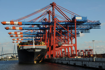 containerhafen hamburg schiff container