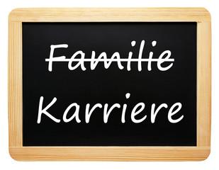 Familie und Karriere - die Entscheidung