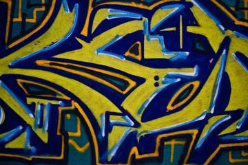 Blue Yellow Graffiti