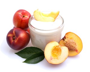 Joghurt - Pfirsiche