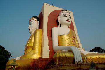 Big white Buddha in Hongsaowade, Myanmar 1.