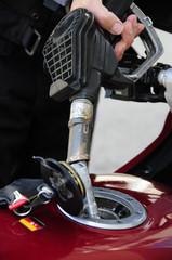 Motorrad Tankstelle