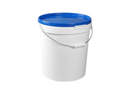 Closed white plastic container