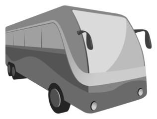 bus transit grayscale