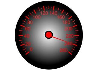 Fototapete - 3D Tacho Geschwindigkeit