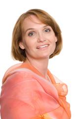 Portrait middle aged woman