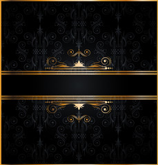 Elegant seamless wallpaper with golden decorations