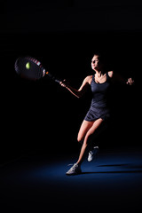 woman play tennis