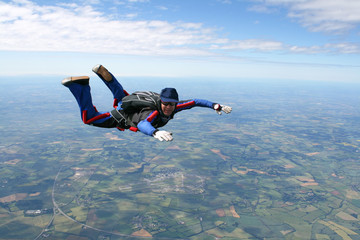 Foto op Aluminium Luchtsport Skydiver in freefall