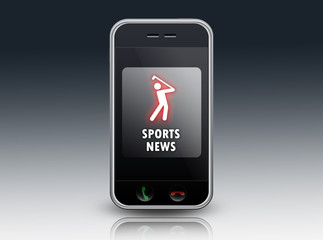 "Smartphone ""Sports News (Golf)"""