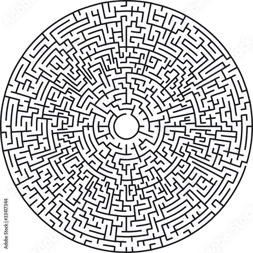 """Circular maze very difficult"" Stock image and royalty ..."