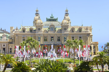 Monte Carlo decorated to the royal wedding, Monaco