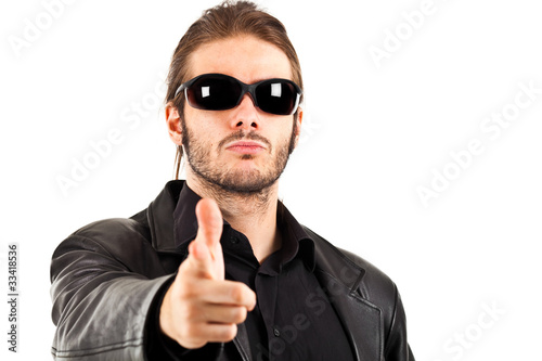 Guy With Sunglasses  cool guy with sunglasses thumbs up stock photo and royalty free
