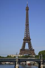 Fotobehang Parijs Eiffel tower and bridge