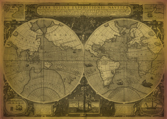 Old Map Of The World v2