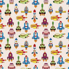 seamless spaceship pattern.