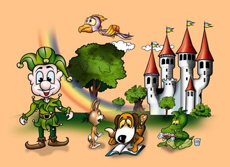Fairy Tale - Cartoon Background Illustration