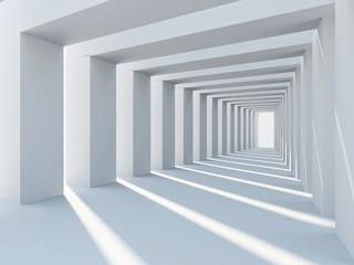 Fototapeta Abstract interior architecture with row of plain columns obraz