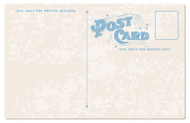 Antique postcard in vector - with place for your text or photo