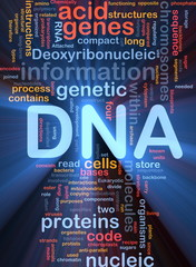 DNA genetic background concept glowing