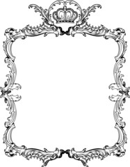 Decorative Vintage Ornate Frame. Vector Illustration.