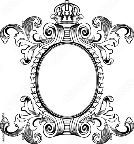 antique frame drawing. \ Antique Frame Drawing