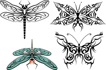 tattoo dragonfly, Butterfly