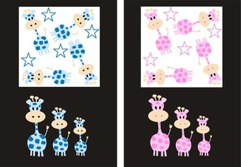 giraffe patterns