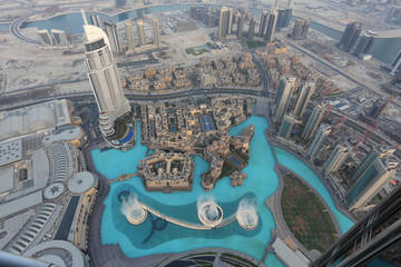 Wall Mural - Dubai Fountain as seen from Burj Khalifa