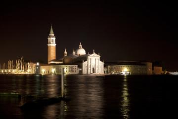 San Giorgio Maggiore in Venice at night