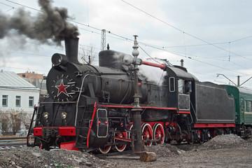 Er series steam locomotive on the move