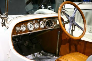 classic  mercedes benz car interior