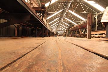 sawmill wood old.