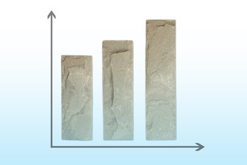Graph made from stone