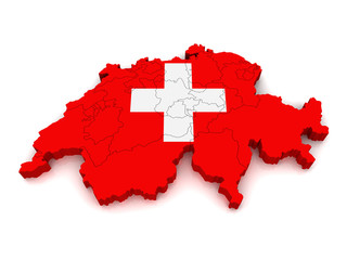 3D Map of Switzerland