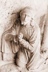 Stone statue Christ - religious symbo