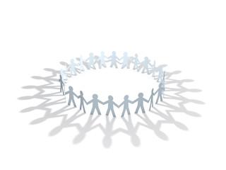 paper men team circle