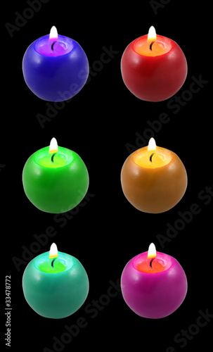 Candele colorate colored candles immagini e fotografie for Candele colorate