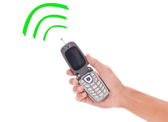 Cell Phone with Fun Radio Wave Signals