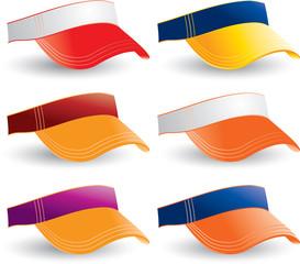 Visors in various colors