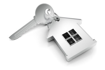 3D home key render concept